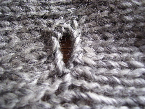 Button hole crochet finish public side