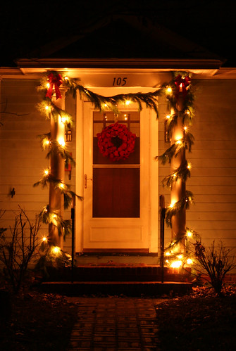 Front Door Christmas Lights