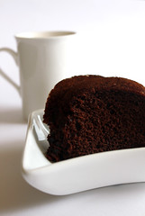 Chocolate Cake for Breakfast.. (ShaDn) Tags: morning food white cake breakfast recipe dessert lunch mix sweet chocolate cream whippedcream homemade diet goodmorning choco baked chocolatecake cakemix cacao