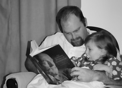 She loves the classics (abennett23) Tags: portrait selfportrait self reading bedtimestories 365 evie daddydaughter 365days