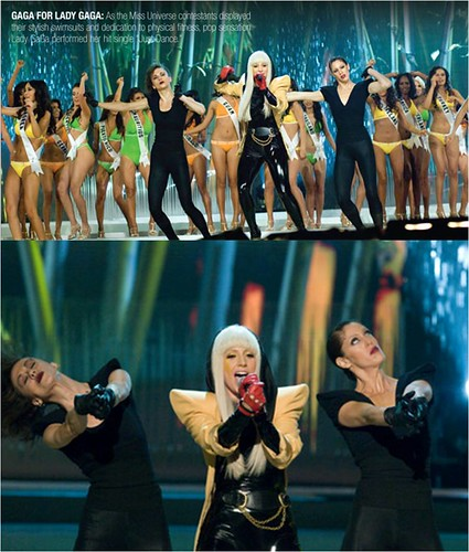 Lady GaGa in Miss universe 2008 swimsuit
