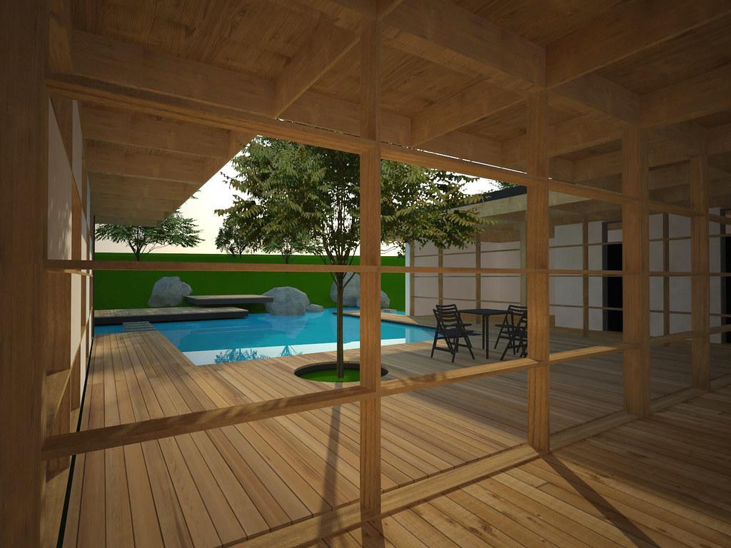 Courtyard House Home Floor Plan Plans - Distinctive House Plans.com