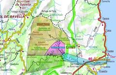 Carte du cours du Cavu et de ses vallées