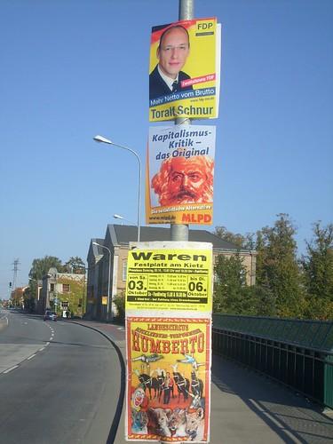 Poster zur Landtagswahl - Wahlkampf