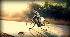A jorney towards Light !!! [Explored] (D a r s h i) Tags: morning boy sunlight busy cycle vehicle rays mulshi tamini darshi krishlikesit darshita