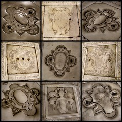 blank coats of arms (Blind Spot Jewellery) Tags: italy church stone heraldry coatofarms floor tomb crest genova blank marble blazon
