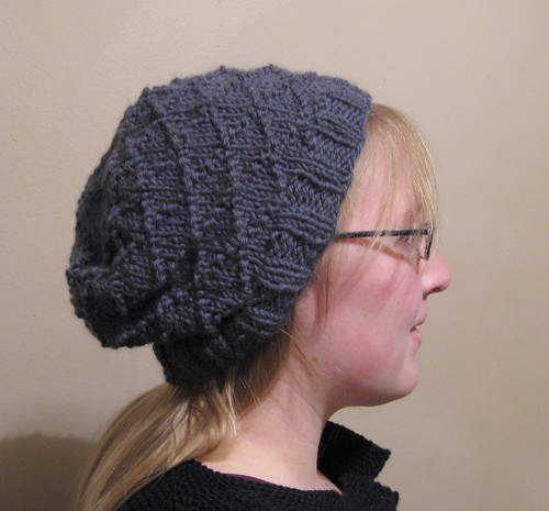 Slouchy textured hat