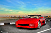 Ferrari Blue Skies (Mishari Al-Reshaid Photography) Tags: road city sunset red sea sky reflection cars car clouds photoshop canon reflections seaside cool italian automobile awesome wheels ferrari exotic lowtide kuwait autos canondslr canoneos v8 automobiles 90s kuwaitcity sportscar sportscars redcar carphotos carphotography 24105 355 canonef24105f4l gtm carphoto canoncamera canonphotos canoneflens 24105mm canonllens 40d mishari canonef24105f4lis kuwaitphoto kuwaitphotos 580exii canoneos40d canon40d kuwaitcars kvwc gtmq8 kuwaitvoluntaryworkcenter kuwaitvwc canon580exiiflash kuwaitsunsets kuwaitphotography misharialreshaid malreshaid misharyalrasheed