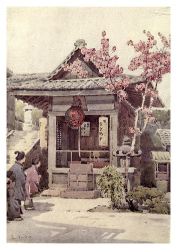 016- Un santuario budista-The flowers and gardens of Japan (1908)-  Ella Du Cane