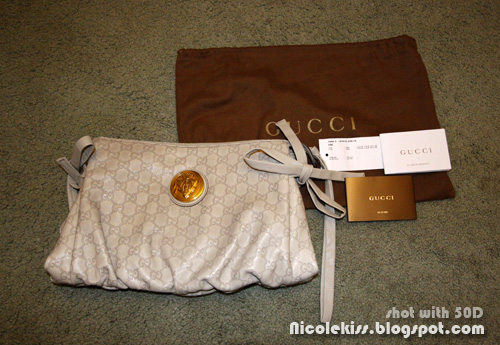 gucci hysteria clutch and cards