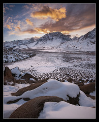 Basin Mountain Sunset (Mike Hornblade) Tags: winter sunset sierranevada softlight basinmountain variosonnar163528za