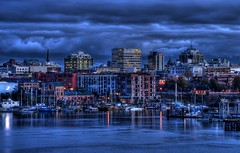 Victoria's Skyline (HDR) (Brandon Godfrey) Tags: world pictures city blue wallpaper sky canada building water beautiful skyline clouds buildings wonderful landscape boats photography photo amazing twilight scenery downtown apartments bc photos shots harbour pics earth britishcolumbia sony scenic picture free overcast bluesky pic scene victoria canadian vancouverisland hour creativecommons pacificnorthwest northamerica unreal condos alpha dslr incredible 2009 hdr highdynamicrange victoriabc a300 backround photomatix tonemapped tonemapping sonya300