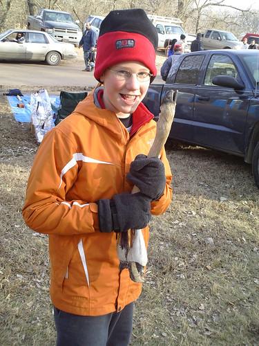 Look Dad! I found a deer leg!