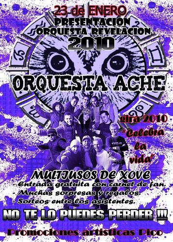 Orquesta Aché 2010 cartel presentación Xove