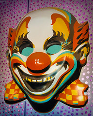 Giant Evil Clown Head