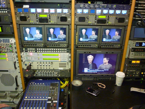 Master Control in the Satellite Truck