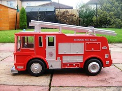 Merryweather Fire Engine Model Made Completely From Recycled Materials - 4 Of 5 (Kelvin64) Tags: red art water truck fire corgi artwork engine lorry emergency tender diorama matchbox brigade dinky merryweather
