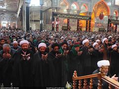 إقامة صلاة الجمعة في الصحن الحسيني الشريف بإمامة سماحة الشيخ عبدالمهدي الكربلائي