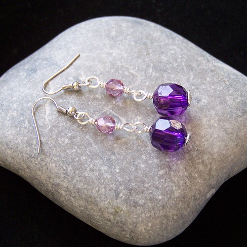 Purple People Eater - earrings
