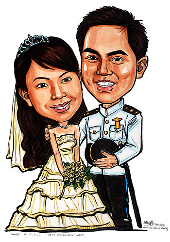 Wedding couple caricatures 260110