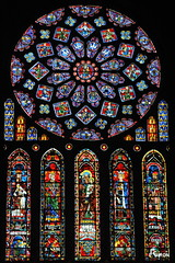 Cathdrale Notre-Dame de Chartres - La Rose nord (Philippe_28 (maintenant sur ipernity)) Tags: france glass cathedral gothic stained cathdrale 28 gothique chartres vitraux eureetloir
