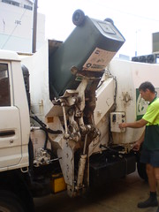 JR Richards Garpac SL 3 (Lifter) (AussieGarbo) Tags: trash truck garbage side jr sl collection rubbish toyota vehicle manual waste loader recycling richards services sons msl dyna garpac