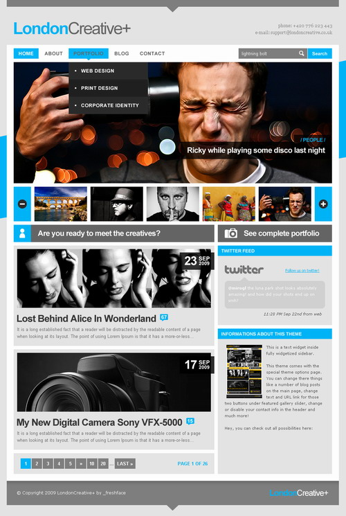 London Creative + – ThemeForest Premium WordPress Theme