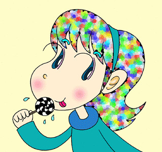 Girl cartoon character - Colorfulness Candy girl