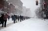 Off to the Phone Booth (Aaron Webb) Tags: street snow washingtondc dc districtofcolumbia georgetown hoyas fstreet snowmageddon snomg snopocalypse dcblizzard10