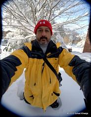 Nanook (Sohailsk) Tags: red snow storm hat yellow nikon jacket blizzard 1224mm f4 kneedeep murrysville sohailsk pittsburgh020610 sohailkhwaja