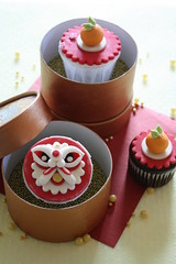 Happy Chinese New Year (RATUkek) Tags: red gold cupcakes happychinesenewyear gongxifacai festiveseason ratukek