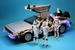 Time paradox (Stfan) Tags: car toy actionfigure starwars stormtroopers twin voiture double future stormtrooper present timetravel figurine temps delorean jouet paradox backtothefuture hasbro timemachine stormtroopers365