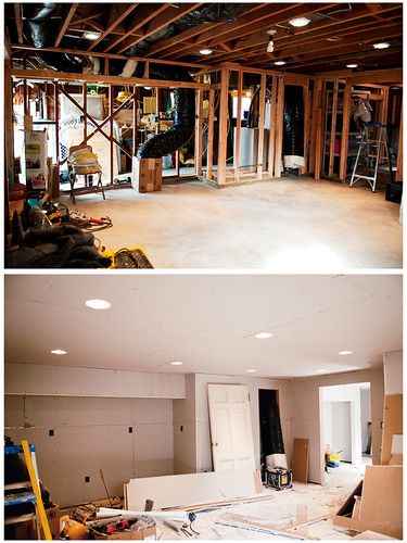 basement renovation: before + during
