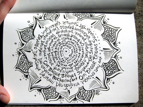 Circular Gayatri Mandala
