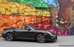 2010 Porsche Turbo (Auto Exposure Canada) Tags: auto color colour art car speed germany mural automobile 911 performance fast convertible turbo german porsche kelowna luxury cabriolet 2010russellpurcell