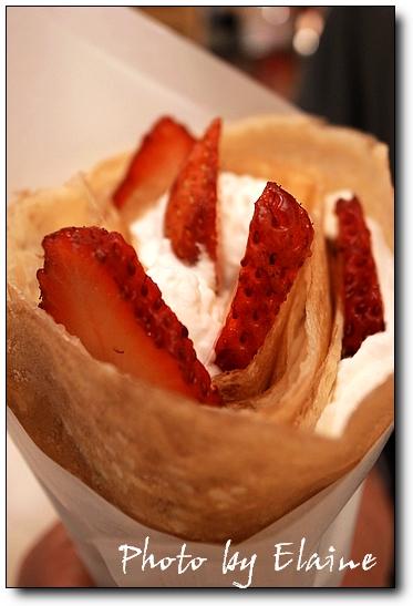 草莓鮮奶油可麗餅