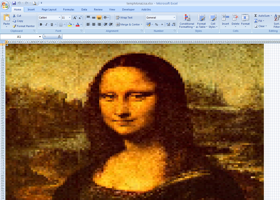 How to Make Pixel Paintings with Google Spreadsheets