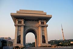 Arch of Triumph (florian_grupp) Tags: propaganda capital korea kimjongil archoftriumph socialism northkorea dearleader pyongyang dprk greatleader socialistic kimilsung democraticpeoplesrepublicofkorea kimyongil pyoengyang