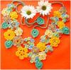 Fada Maya, colar de crochê (Lidia Luz) Tags: flowers flores flower necklace handmade crochet flor jewelry bijoux bijuteria colar bijouteria crochê lidialuz stunningphotogpin