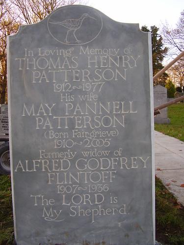 Curlew gravestone near Teeside.