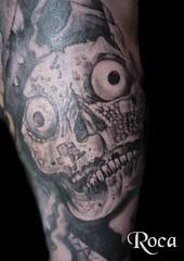Representacion de mictlantecuhtli (roca tattoo studio) Tags: art tattoo arte maya aztec culture mayan diseo cultura tatuaje prehispanic azteca precolombino prehispanico zapoteca mixteca