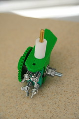 Extruder with nozzle