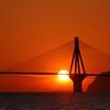 the sun sets at rio-antirrio