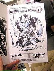 Wondercon 2010: sketch of Norman Anklebiter