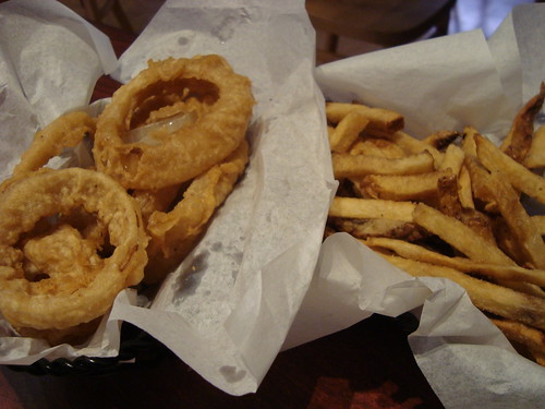 Onion Rings and Fries @ Burger Kitchen