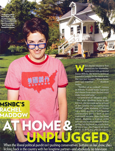 Rachel Maddow - People, April 2010