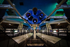 Inside Space Mountain (Adam Hansen) Tags: space disney peoplemover disneyworld rollercoaster wdw waltdisneyworld tomorrowland magickingdom spacemountain tta lightson disneyphotochallenge disneyphotochallengewinner