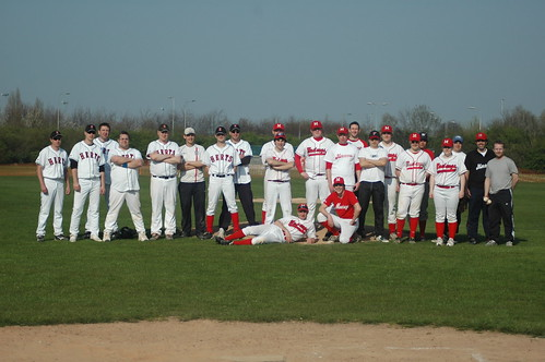 Raptors and Mustangs by Herts Baseball Club.