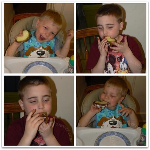 Happy snacking boys