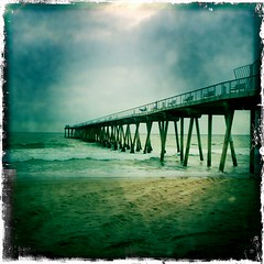 Hermosa Pier II (johnwilliamsphd) Tags: cameraphone ocean sky copyright beach john la pier losangeles sand williams dusk c lofi cellphone socal hermosabeach iphone  williams john johncwilliams johnslens iphoneography hipstamatic kodotverichromefilm johnwilliamsphd phd